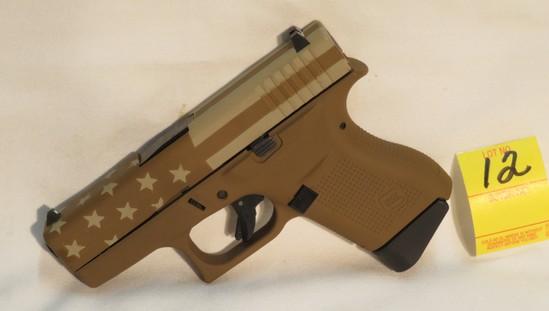 Glock 43 9mm FDE & Flag