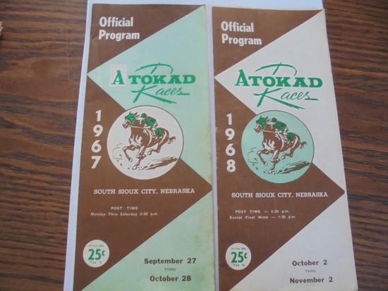 1967 & 1968 ATOKAD RACING PROGRAMS-SOUTH SIOUX CITY NEBRASKA