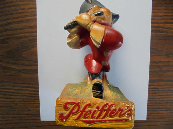 OLD PFEIFFER'S BEER ADVERTISING COUNTER TOP CHALKWARE ITEM