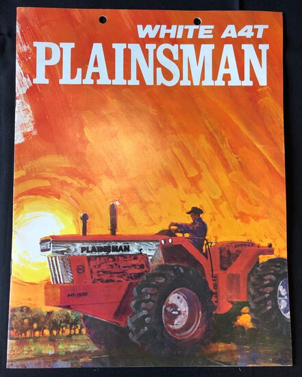 WHITE A4T PLAINSMAN TRACTOR SALES BROCHURE