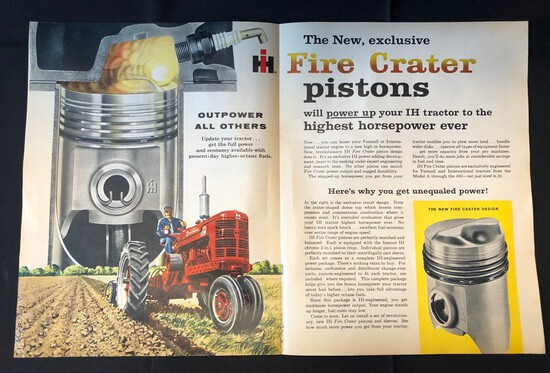 INTERNATIONAL HARVESTER FIRE CRATER PISTONS ADVERTISEMENT