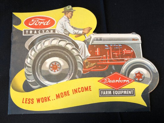 "FORD TRACTOR ""LESS WORK.. MORE INCOME"" SALES LITERATURE"