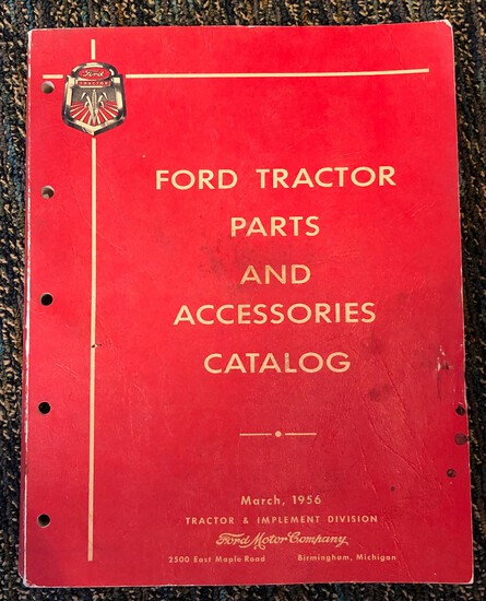 1939 THRU 1956 FORD TRACTORS PARTS AND ACCESSORIES CATALOG