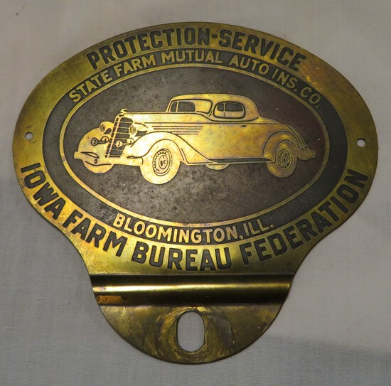 IOWA FARM BUREAU FEDERATION - LICENSE PLATE TOPPER