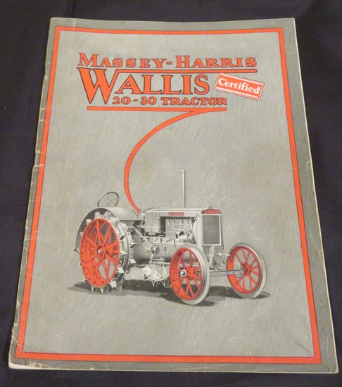 MASSEY-HARRIS WALLIS 20-30 TRACTOR SALES BROCHURE
