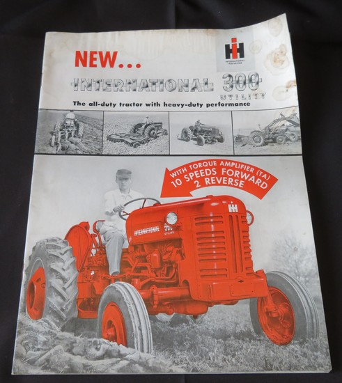 INTERNATIONAL 300 UTILITY TRACTOR - SALES BROCHURE