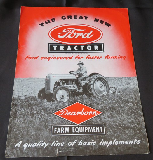 "1949 SALES BROCHURE FOR ""THE GREAT NEW FORD TRACTOR"""