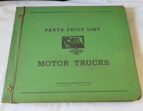 1959 INTERNATIONAL MOTOR TRUCKS PARTS PRICE GUIDE