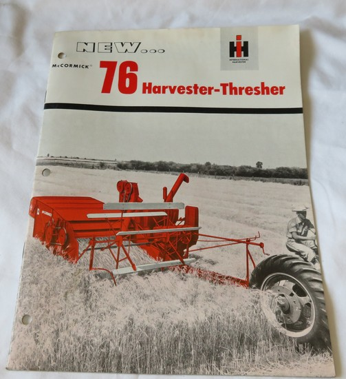McCORMICK 76 HARVESTER- THRESHER SALES BROCHURE