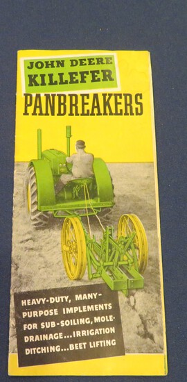 JOHN DEERE KILLEFER PANBREAKERS - POCKET BROCHURE