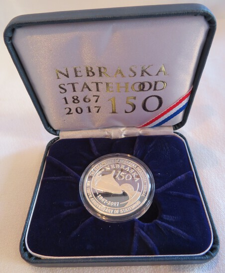 2017 NEBRASKA SESQUICENTENNIAL COMMEMORATIVE MEDAL - 1 OUNCE OF FINE SILVER
