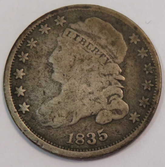 1835 UNITED STATES CAPPED BUST DIME