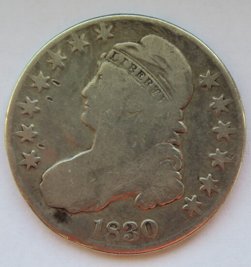 1830 UNITED STATES CAPPED BUST HALF DOLLAR