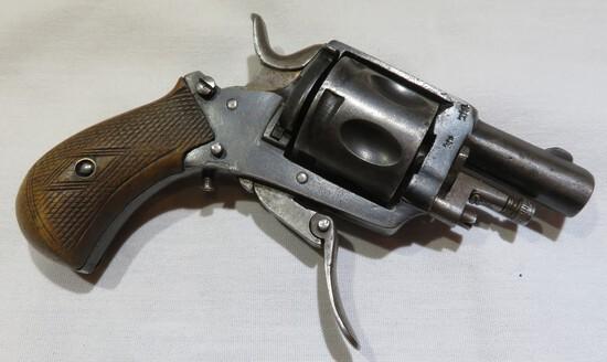 Belgian 6 Shot Folding Trigger Revolver