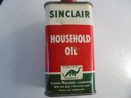 OLD SINCLAIR HOUSEHOLD OIL 4 INCH TALL