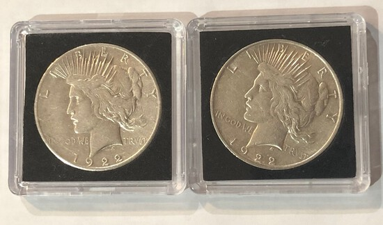 1922 AND 1922-S PEACE SILVER DOLLARS