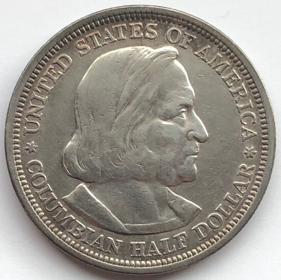 1893 COLOMBIAN EXPOSITION SILVER  HALF DOLLAR
