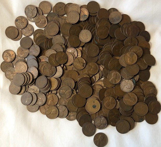 (400) VARIOUS DATED LINCOLN WHEAT CENTS