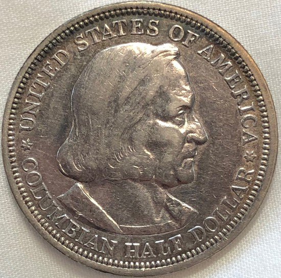 1892 COLOMBIAN EXPOSITION SILVER  HALF DOLLAR