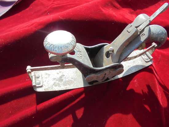 "OLD NUMBER 113 STANLEY ""CIRCULAR"" ADJUSTABLE WOOD PLANE"
