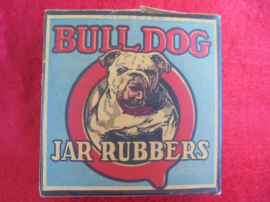 OLD BULL DOG BRAND JAR RUBBER SEAL-STILL FULL