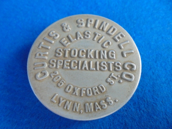 "EARLY ALUMINUM POCKET TAPE WITH ADV. ""CURTIS & SPINDELL CO"" LYNN, MASS.-LOST END OF TAPE"
