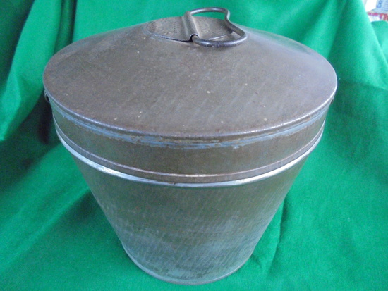 ANTIQUE TIN WARE PUDDING MOULD-8 INCHES TALL