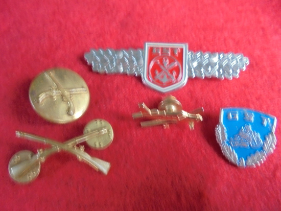 (5) OLD PINS---ALL DIFFERENT-SOME MILITARY