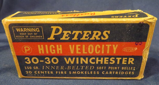 Peters High Velocity 30-30 Winchester 150gr. SP