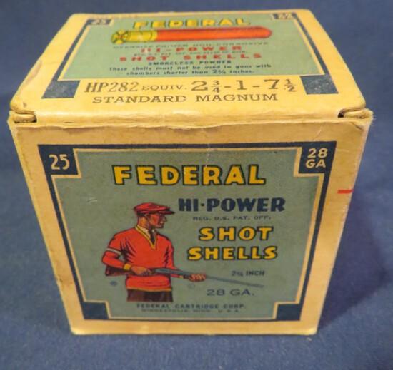 "Federal Hi-Power Shot Shells 28ga 2.75"" 7.5 shot"