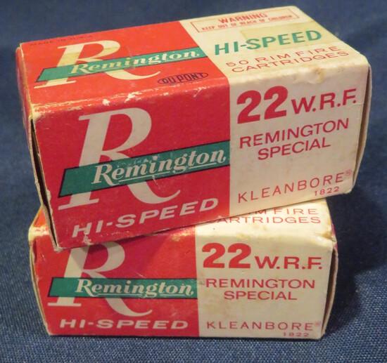 (2) Remington Hi-Speed Kleenbore .22 WRF