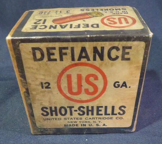 Defiance US 12ga Shotshells Empty Box