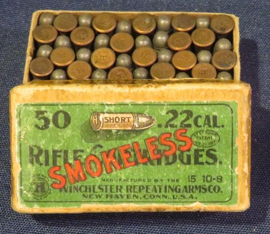 Winchester 22 Short Smokeless Full Two-Piece Box