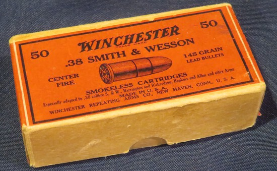 Winchester .38 Smith and Wesson 145gr Two Piece Box