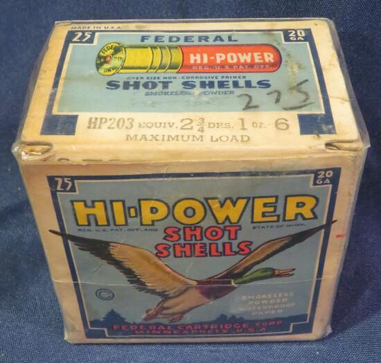 "Federal Hi-Power Shot Shells 20ga 2.75"" 6 shot"