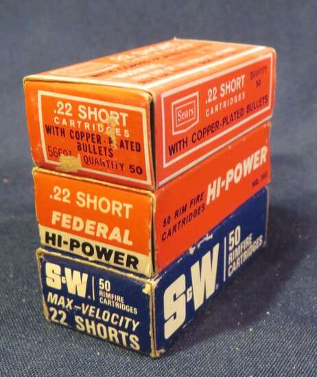 (3) Boxes of .22 Short