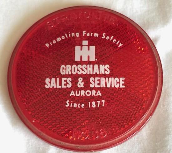 """GROSSHANS SALES & SERVICE"" - AURORA, NEBR. INTERNATIONAL HARVESTER REFLECTOR"
