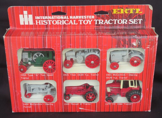 IH HISTORICAL TOY TRACTOR SET - 1/64 SCALE