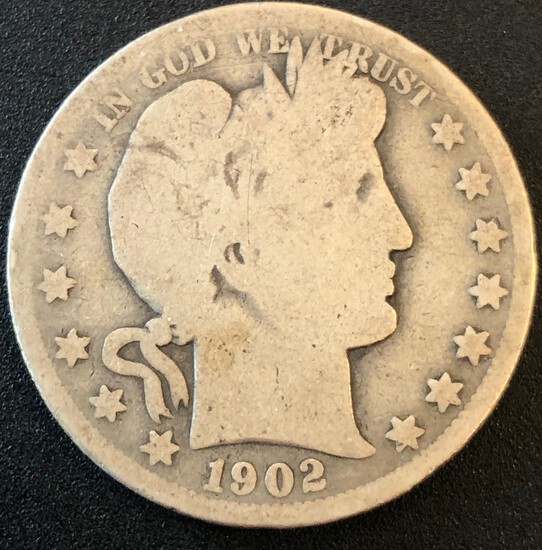 1902-O United States Barber Half Dollar