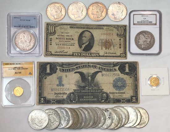 LARGE COIN AND CURRENCY AUCTION