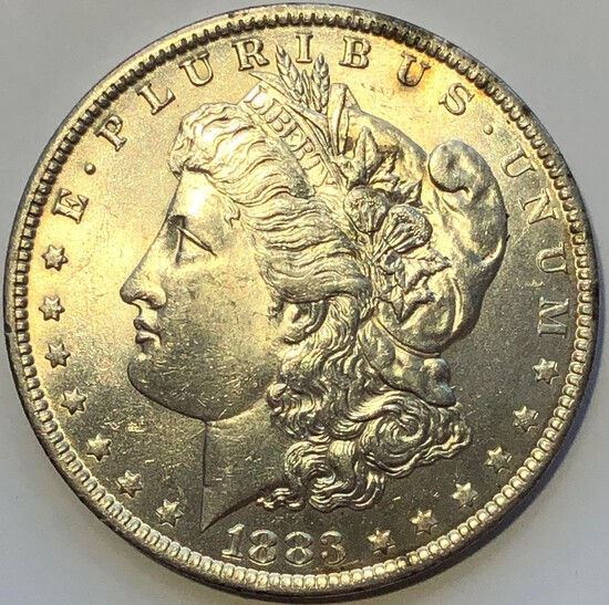 1883-O MORGAN SILVER DOLLAR - BEAUTIFUL COIN
