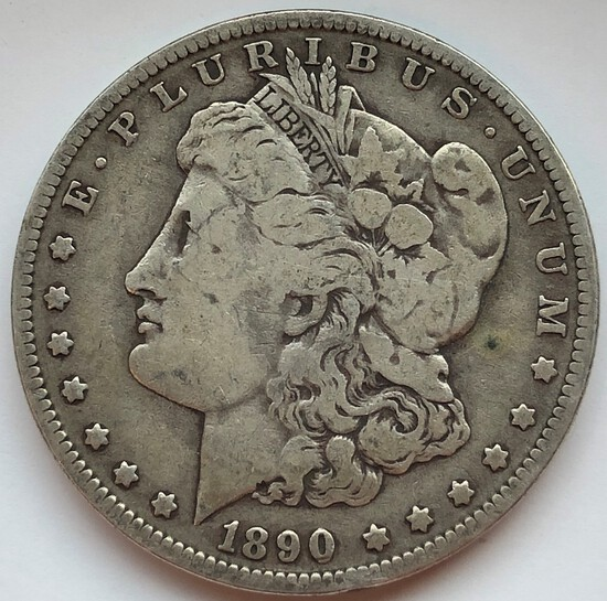 1890-O MORGAN SILVER DOLLAR
