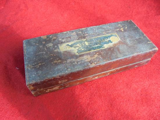 "OLD ""ARKANASA WET STONE OR SHARPENING STONE"" IN BOX"