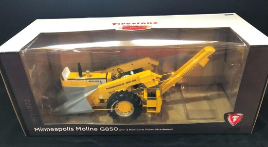 MINNEAPOLIS-MOLINE G850 WITH 2 ROW PICKER ATTACHMENT - FIRESTONE AG LIMITED EDITION