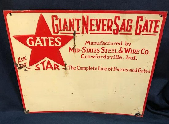 MID-STATES STEEL AND WIRE CO. - ADVERTISING SIGN