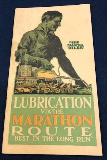 1921 MARATHON OIL LUBRICATION GUIDE