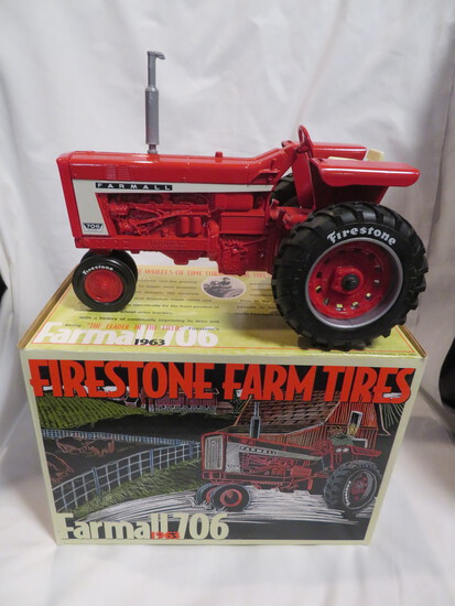 FIRESTONE FARM TIRES - FARMALL 706 TRACTOR