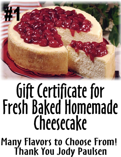 Fresh Baked Homemade Cheesecake by Jody Paulsen