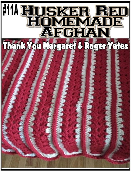 Husker Red Homemade Afghan
