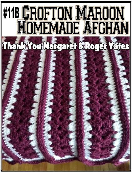 Crofton Maroon Homemade Afghan